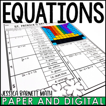 St. Patrick's Day Math Activity: Equations Review