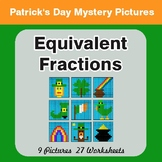 St. Patrick's Day: Equivalent Fractions - Color-By-Number