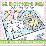 St. Patrick's Day Equivalent Fractions Worksheet