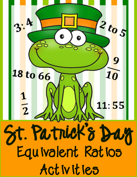 St. Patrick's Day: Equivalent Ratios Math Activities