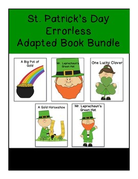 St. Patrick's Day Errorless  Adapted Book Bundle
