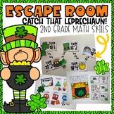 St. Patrick's Day Escape Room 2nd grade Math Skills