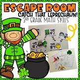 St. Patrick's Day Escape Room 3rd grade Math Skills