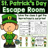 St. Patrick's Day Escape Room, Breakout Activity Kindergar