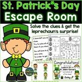 St. Patrick's Day Escape Room, Breakout Activity Kindergar