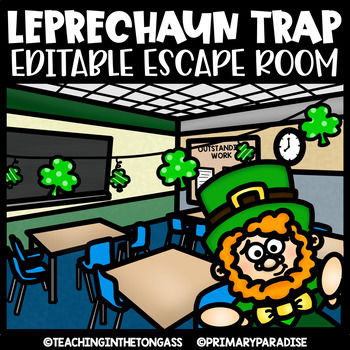 St. Patrick's Day Escape Room (Editable Escape Room St Patrick's Day Activities)