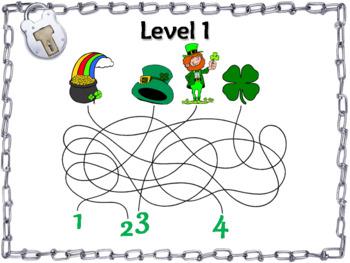St. Patrick's Day Escape Room Math: Roman Numerals Game (4th 5th 6th 7th Grade)