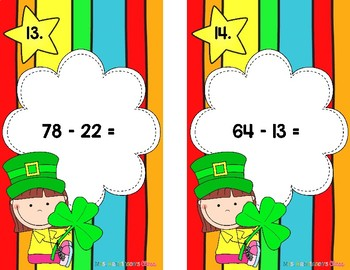 St Patrick's Day Estimate to Add and Subtract