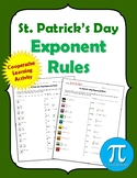 St. Patrick's Day Exponents Rules Cooperative Learning