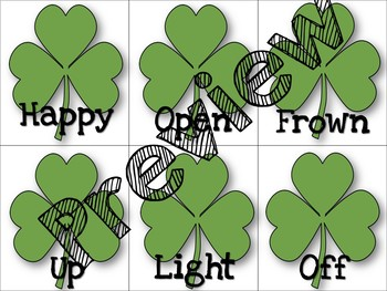 St. Patrick's Day Expressive Language Pack: Antoymns,Synonyms, MMW, EET