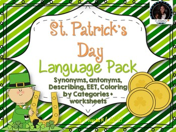St. Patrick's Day Expressive Language Pack: Antoymns,Synonyms, MMW, Vocab