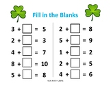 St. Patrick's Day FILL IN THE BLANKS ADDITION C (10 Worksheets)