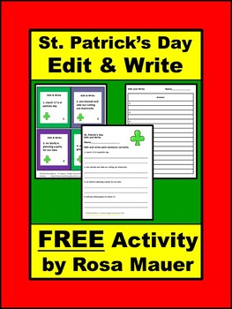 St. Patrick's Day FREE Edit and Write Activity