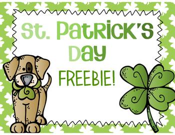 St. Patrick's Day FREEBIE!