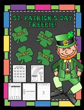 St. Patrick's Day FREEBIE - BINGO, Writing, and More!