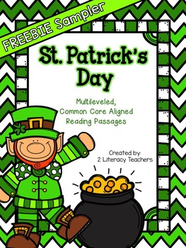 St. Patrick's Day FREEBIE: CCSS Aligned Leveled Reading Passages by 2 Literacy Teachers