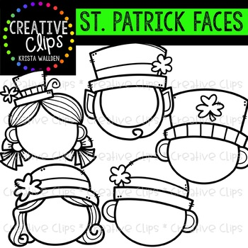 St Patricks Day Face Templates Creative Clips Clipart
