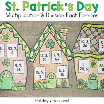 St. Patrick's Day Fact Families: Multiplication and Division