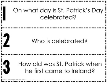 St. Patrick's Day Fan & Pick Cooperative Learning Activity