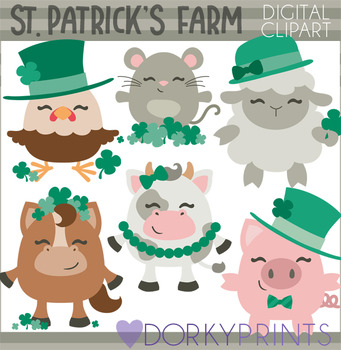 St Patrick's Day Farm Animal Clipart