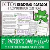 St. Patrick's Day Fiction Reading Passage FREEBIE