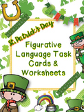 St. Patrick's Day Figurative Language-40 Task Cards, Writing Tasks, & Resources