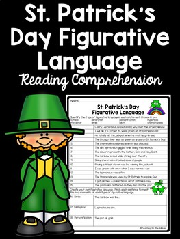 St. Patrick's Day Figurative Language Identification Worksheet, March