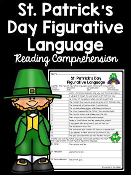 Saint Patrick's Day Figurative Language Identification Worksheet, March
