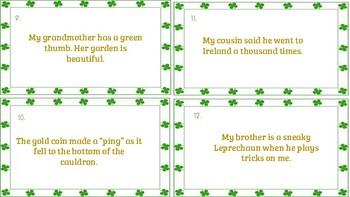 St. Patrick's Day Figurative Language Task Cards