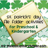 St. Patrick's Day File Folder Activities for Preschool and Kindergarten