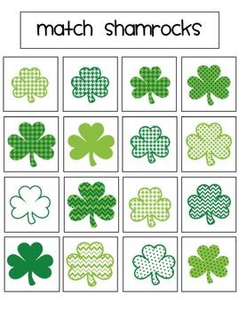 St. Patrick's Day File Folder Activities for Preschool and Kindergarten