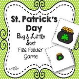 St. Patrick's Day File Folder Game: Big Little Sort