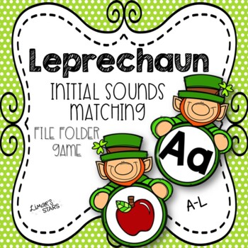 St. Patrick's Day File Folder Game:  Initial Sounds Match A-L
