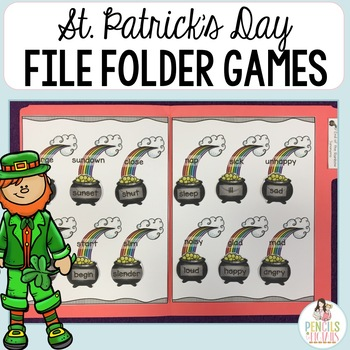 St Patricks Day File Folder Games Morning Work Center Activities