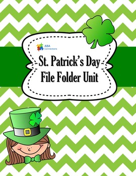 St. Patrick's Day File Folder Unit - 6 Activities with ABL