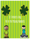 St. Patrick's Day Fill in the Missing Numbers