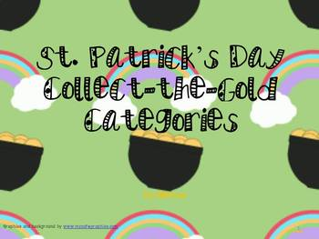 St. Patrick's Day Find the Gold Categories