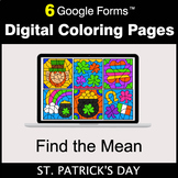 St. Patrick's Day: Find the Mean - Google Forms | Digital
