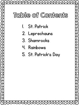 St. Patrick's Day - Finding Text Evidence Reading Comprehension Passages