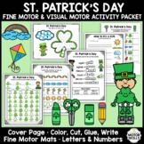 St. Patrick's Day - Fine & Visual Motor - Color, Write, Cut, Glue (K)