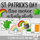 St. Patrick's Day Fine Motor Activity Sheets