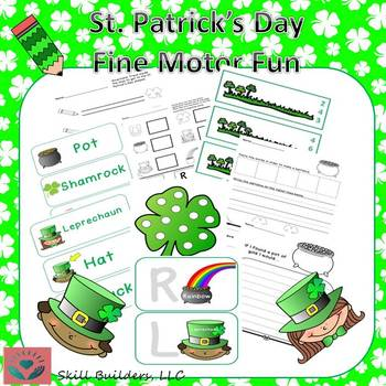 St. Patrick's Day Fine Motor Fun - Occupational Therapy