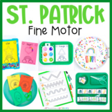 St Patrick's Day Fine Motor Activities March Preschool Work Tub Center Worksheet