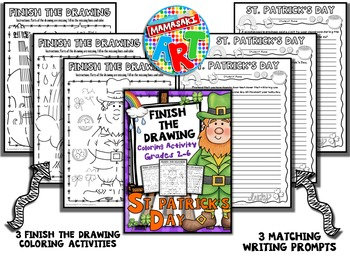 St. Patrick's Day Finish The Drawing Coloring Activity