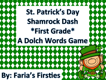 St. Patrick's Day First Grade Dolch Words Dash