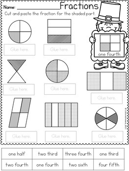 Literacy Worksheets and Math Worksheets for First Grade - St. Patrick's Day