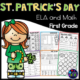 First Grade Math Worksheets and Literacy Worksheets - St. Patrick's Day