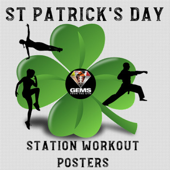 St Patrick's Day Fitness Posters! by Gems from the Gym | TpT