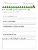 St. Patrick's Day Fix the Sentence