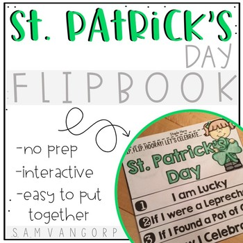 St. Patrick's Day Flip Book (NO PREP)